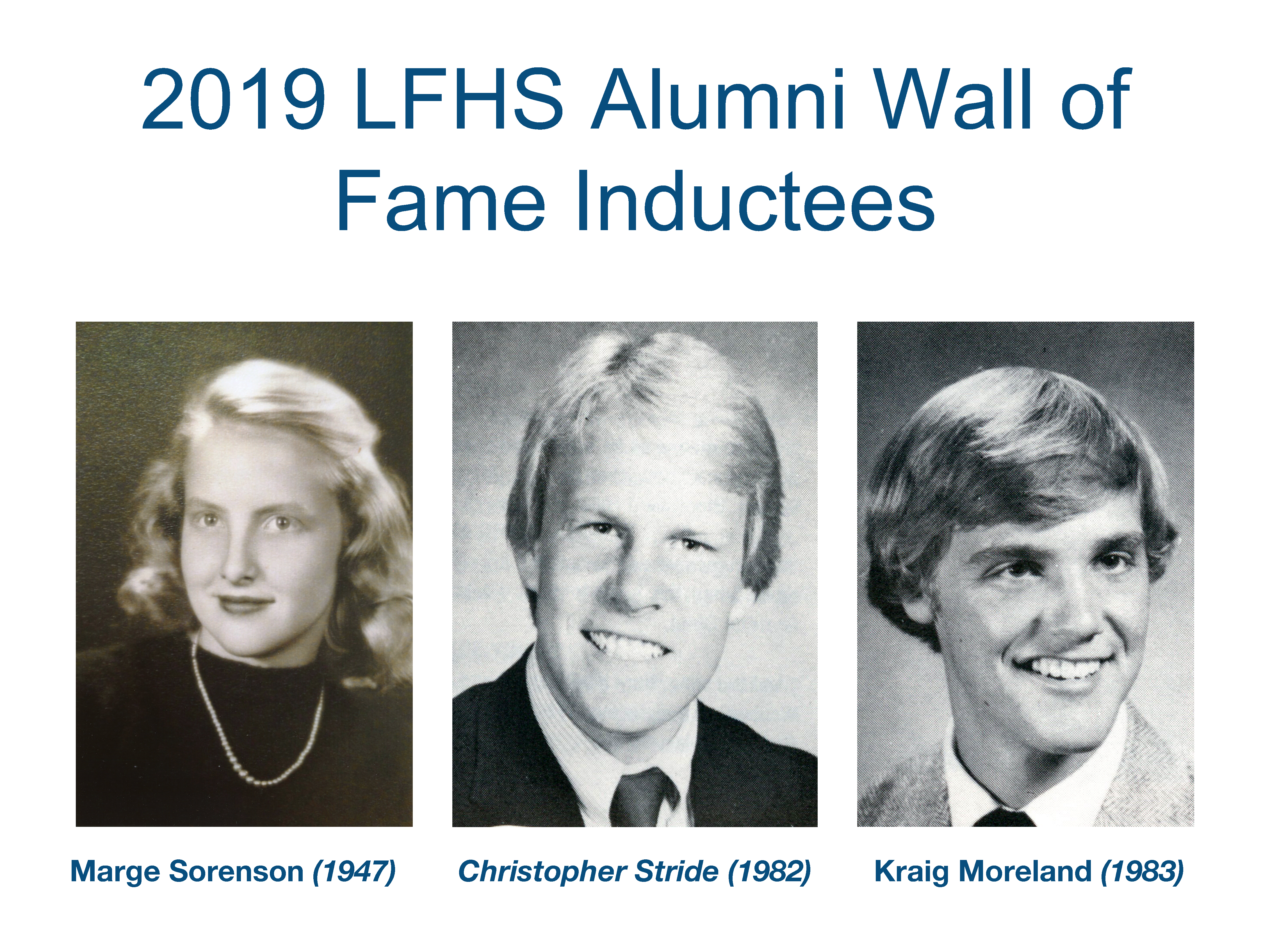 Wall of Fame Inductees 2019